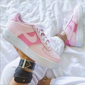 ⚡️Custom Pink Air Force 1 Shoes⚡️